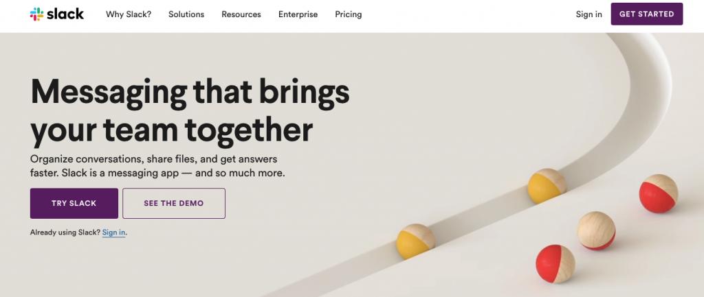Slack SaaS marketing automation tool