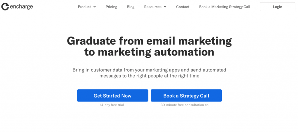 Encharge saas marketing automation